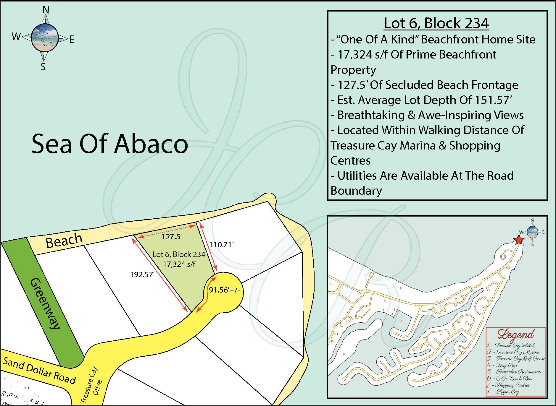 Lot 6, Block 234 Edited Plot Plan