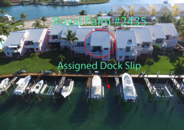 Royal Palm 2435 Unit & Assigned Dock Slip