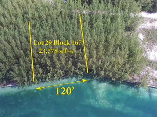Lot 29 Block 167 - Sheltered & Protected Spacious Canal Lot