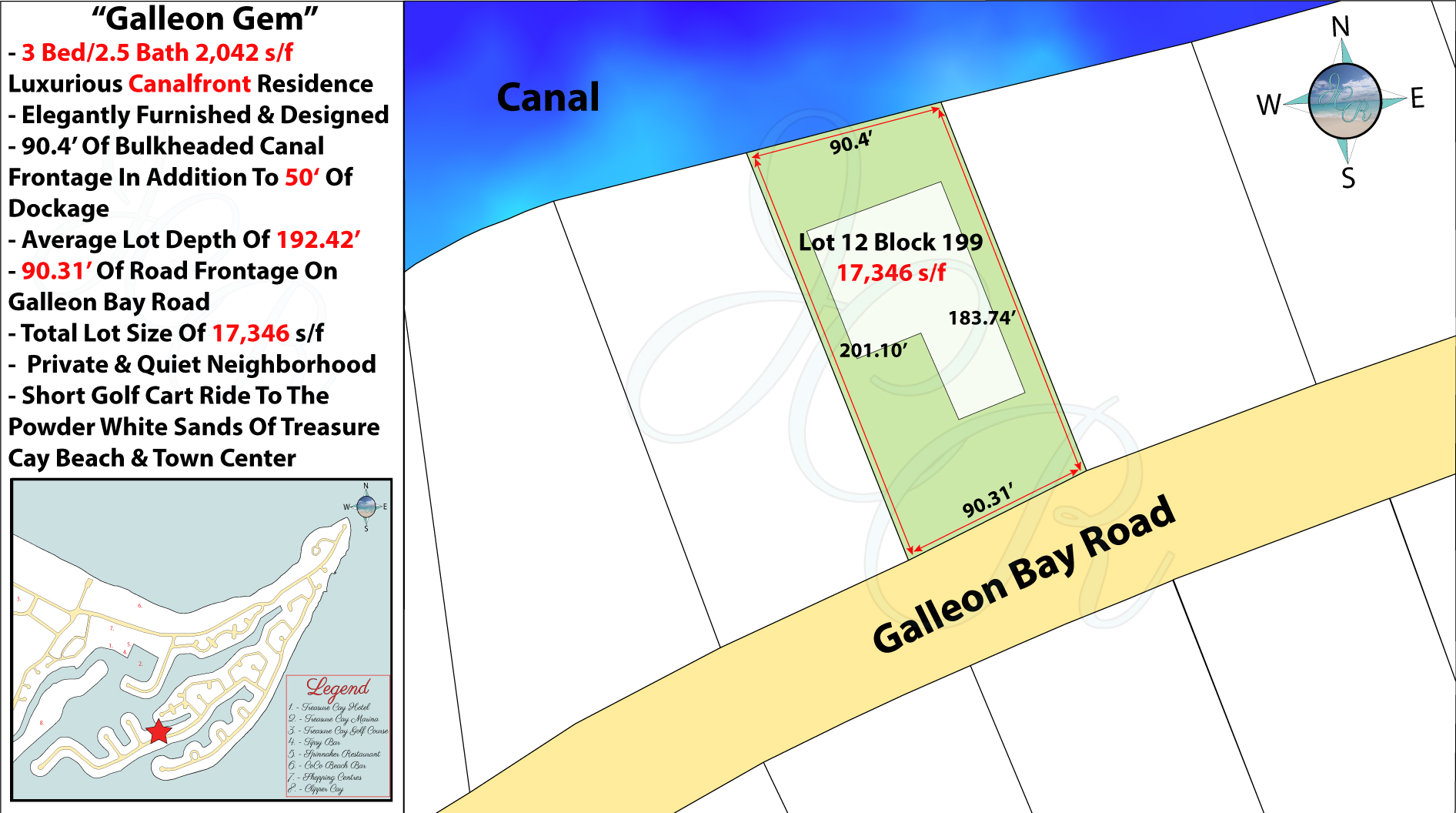 Galleon Gem (Lot 12 Block 199) Plot Plan John Cash Realty