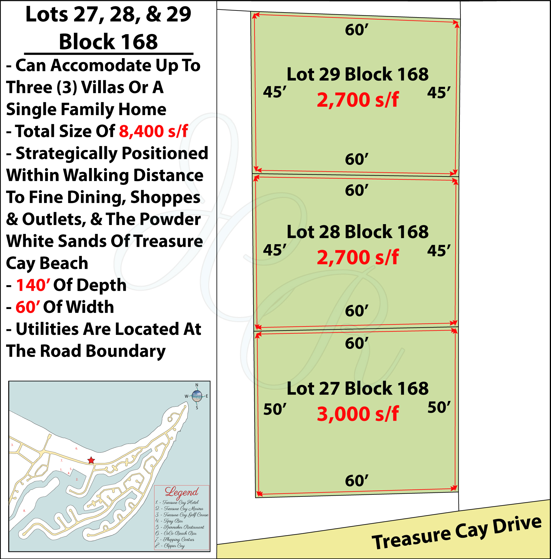 Lots 27, 28, & 29 Block 168 Plot Plan John Cash Realty